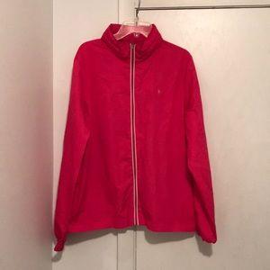 Jackets & Blazers - Hot Pink Full Zip Windbreaker With Hidden Hood